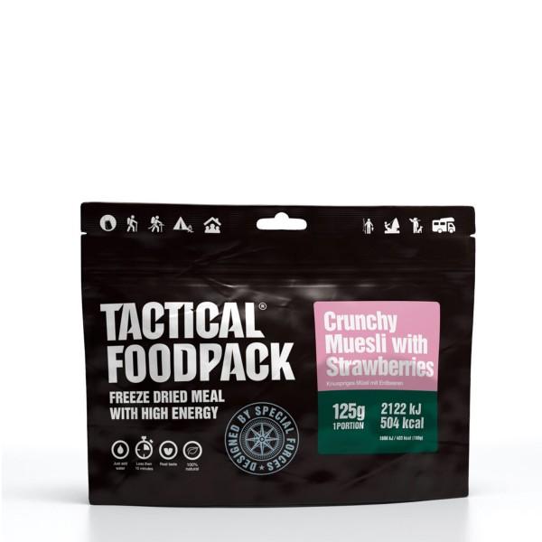 Tactical Foodpack - Crunchy Müsli mit Erdbeeren - Frühstück 125g