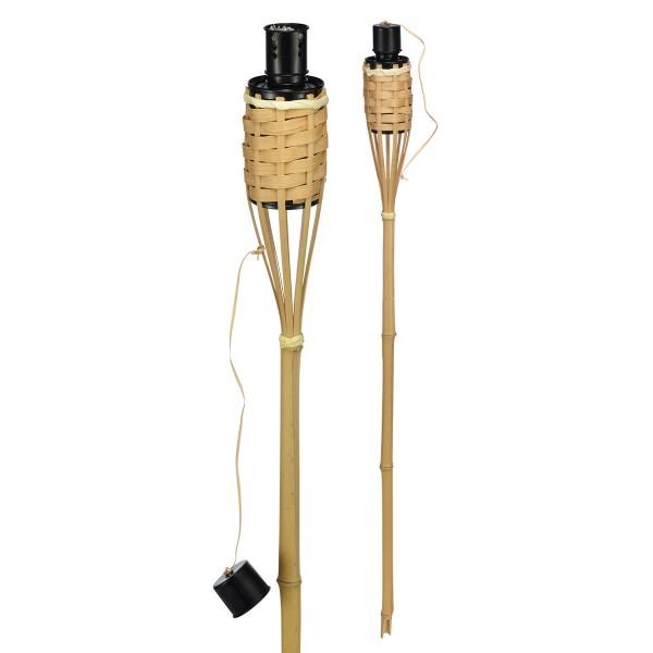 Gartenfackel Bambus - 60cm - Fackel aus Naturmaterialien
