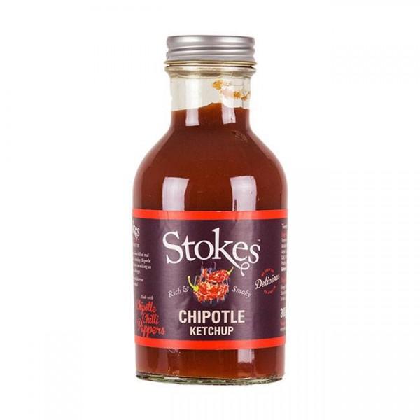 STOKES Chipotle Ketchup 245ml - Mit geräucherten Chllischoten - fruchtig-scharf