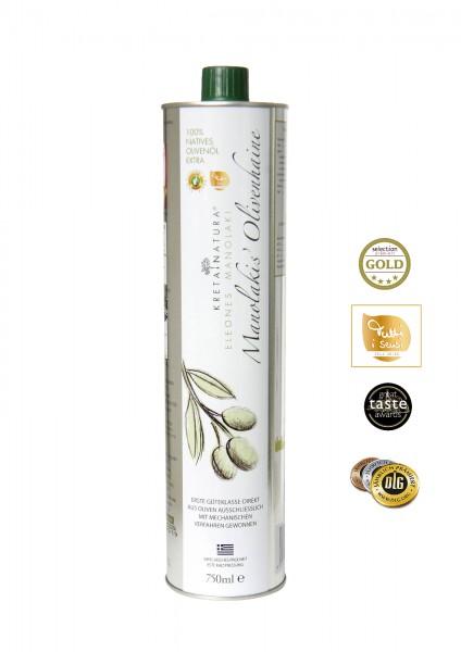 KretaNatura 750 ml  Extra Natives Olivenöl aus Kreta