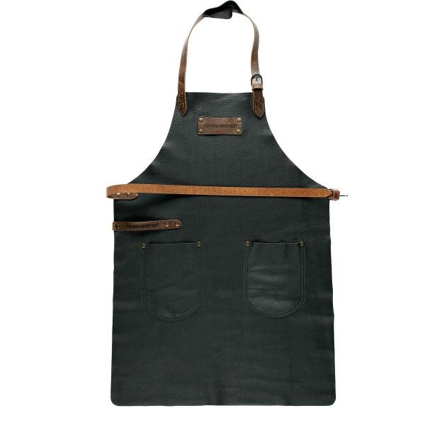 FEUERMEISTER Lederschürze in Nappaleder Farbe Schwarz mit 2 Taschen Größe 1