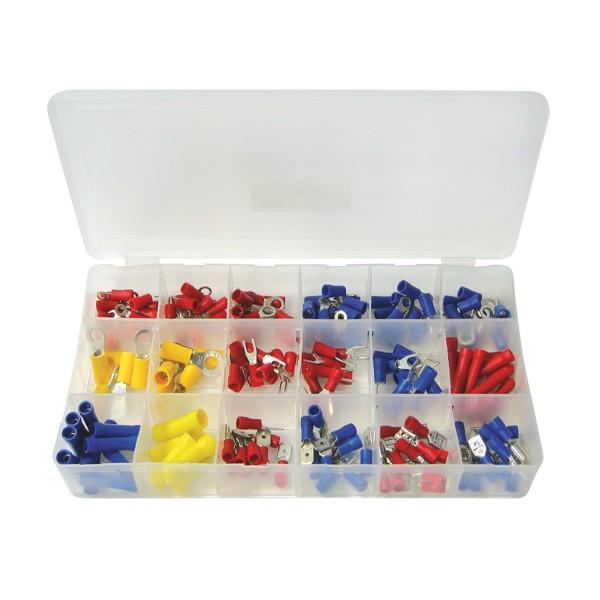 Kabelschuh-Sortiment - 175 Teile - in Sortimentsbox