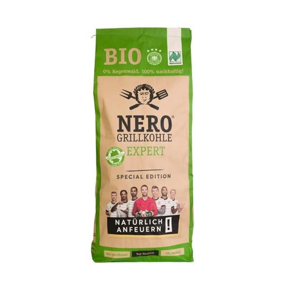 NERO BIO Grill-Holzkohle - 8 kg Sack - Garantiert ohne Tropenholz - Holz aus Deutschland