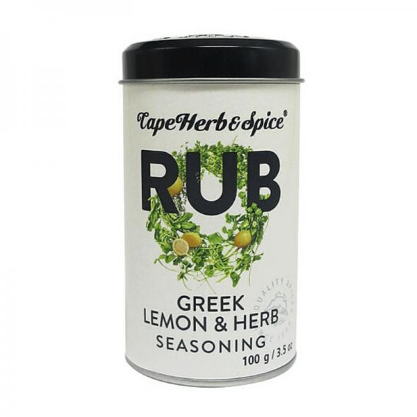 Cape Herb & Spice Rub Greek Lemon & Herb - 100g Gewürzsalz mit Oregano & Zitronenaroma