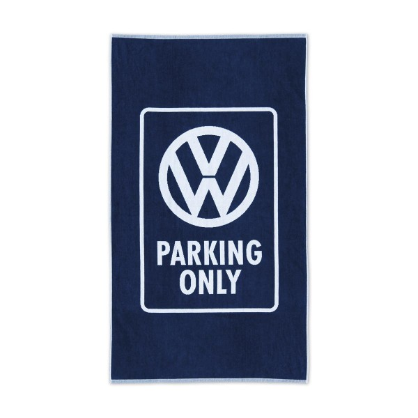 Strandtuch VW PARKING ONLY - 100% Baumwolle 420g/m² Jaquard Qualität - 190 x 90cm