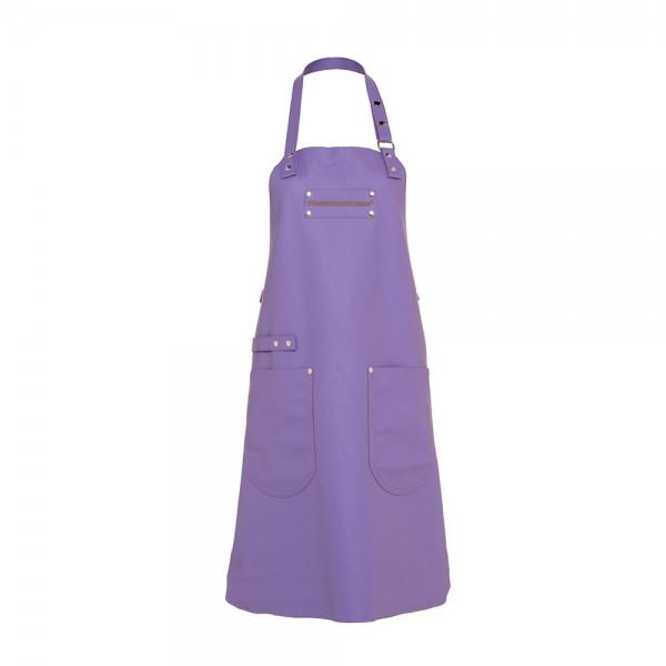 Feuermeisterin Premium Leder Back- und Kochschürze Lila mit 2 Taschen