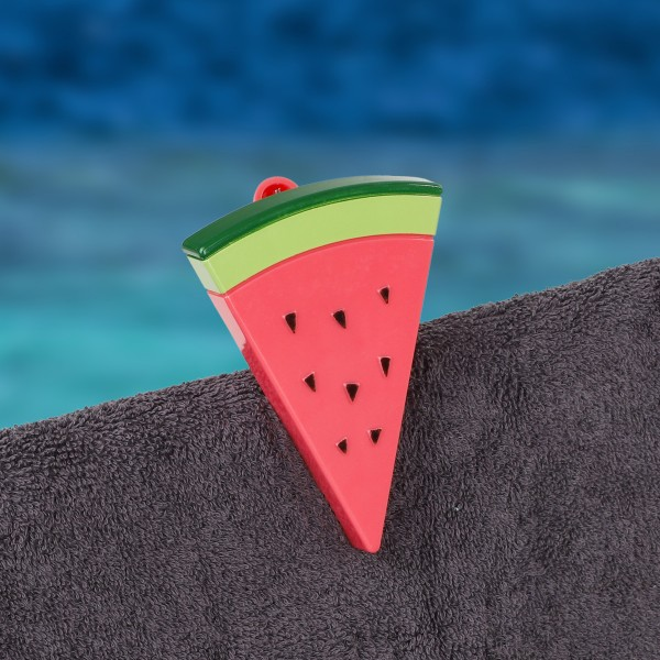 Strandtuchklammer Wassermelone - H: 12cm - 4er Set