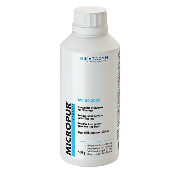 KATADYN Micropur Classic MC 50.000P - Trinkwasser Konservierung Silberionen - 500g Pulver - 1g/100L
