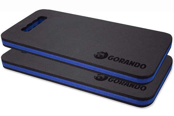 GORANDO® Premium EVA Kniekissen - blau - 2er Set - für Garten, Haus und Werkstatt, Kniepad