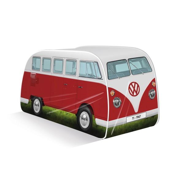 VW Collection - VW T1 Bus - Kinder Pop up Spielzelt - rot