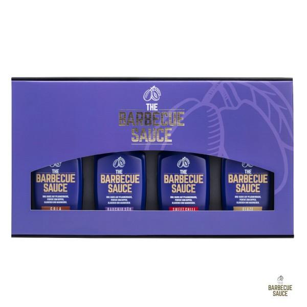 THE BARBECUE SAUCE - 4er Geschenkset - auf Pflaumenbasis - Das perfekte BBQ Geschenk