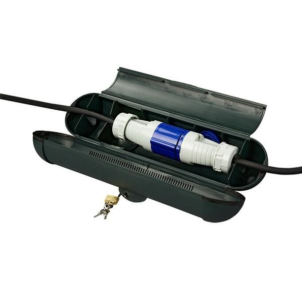 Kabelsafe für CEE Stecker - wetterfest - mit Schloss und Schlüssel - Cable Lock