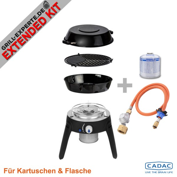 CADAC SAFARI CHEF 2 LITE HP EXTENDED KIT inkl. Flaschenadapter + Kartusche