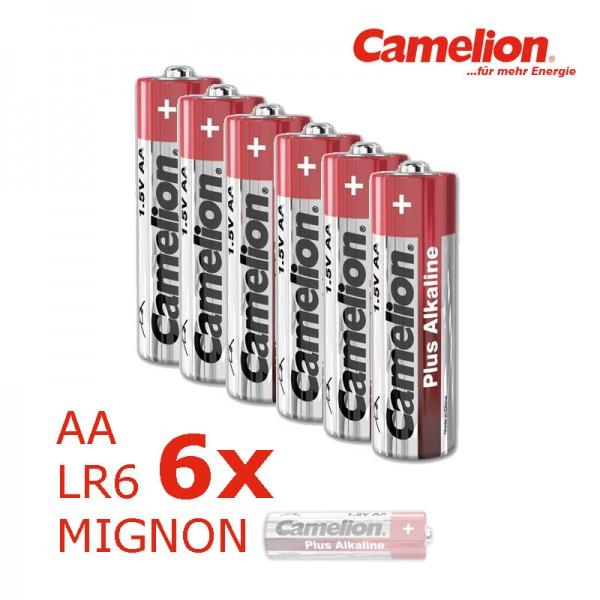 Batterie Mignon AA LR6 1,5V PLUS Alkaline - Leistung auf Dauer - 6 Stück - CAMELION