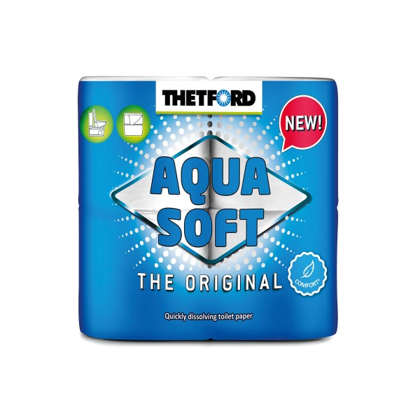 THETFORD AQUA SOFT - Toilettenpapier - superweich und schnell auflösend - ideal für Campingtoiletten