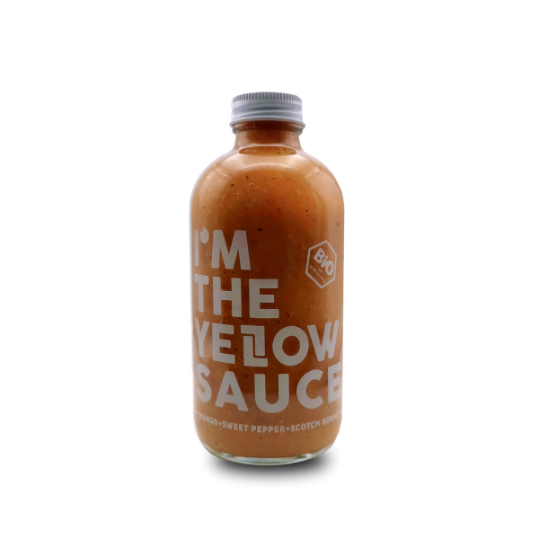 THE YELLOW SAUCE - HAWT Chili Manufaktur - Bio Sauce mit Mango, Minze und Chili - 250ml