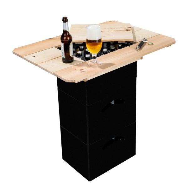 Bierkasten Holztisch - praktische Tischplatte - 79 x 57,5 x 10,5cm