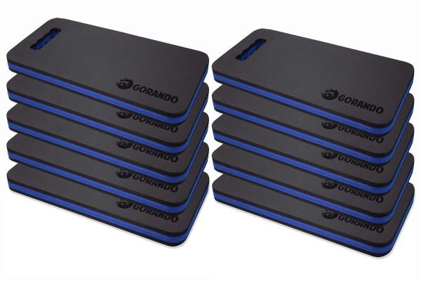 GORANDO® Premium EVA Kniekissen - blau - 10er Set - für Garten, Haus und Werkstatt, Kniepad