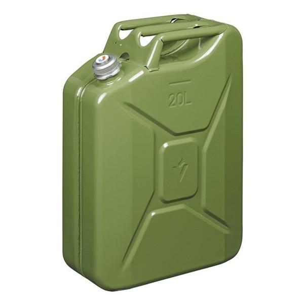 Benzinkanister 20L metall grün mit magnetischem Schraubverschluss UN- & TüV/GS-geprüft