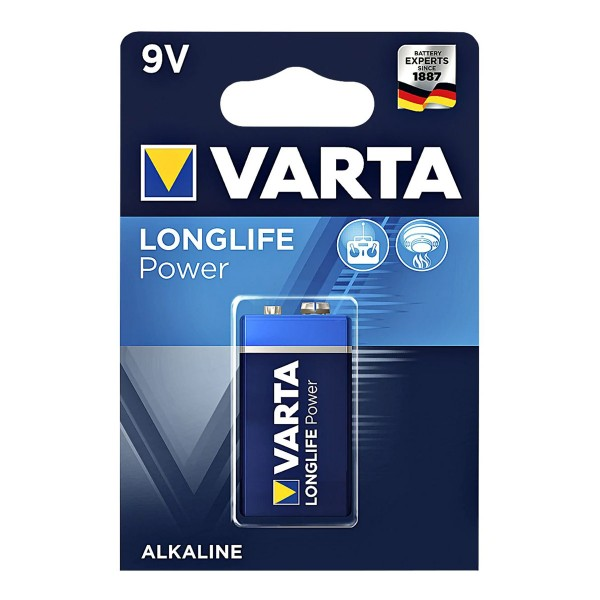Varta Batterie Block 9V - LONGLIFE POWER - 1 Stück - Typ: 6LF22 - 9V - 4922