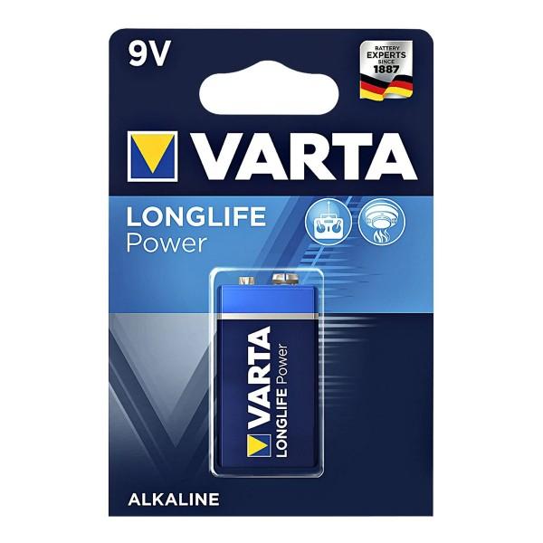 Varta Batterie Block 9V - LONG LIFE POWER - 1 Stück - Typ: 6LF22 - 9V - 4922