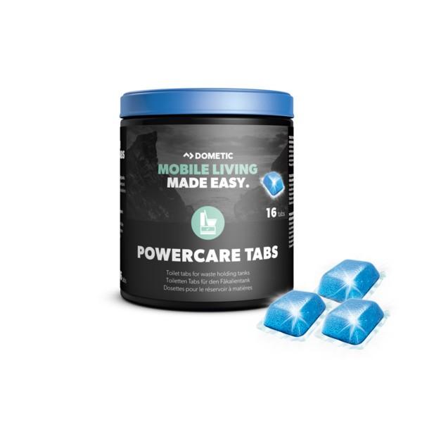 DOMETIC PowerCare Tabs BLUE - 16 Stück - Zusatz für Fäkalientank gegen Geruch