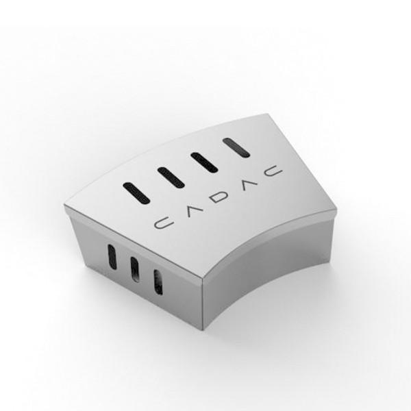 CADAC Smoker Box - Edelstahl Räucherbox für Rundgrills - für Gas- und Kohlegrills
