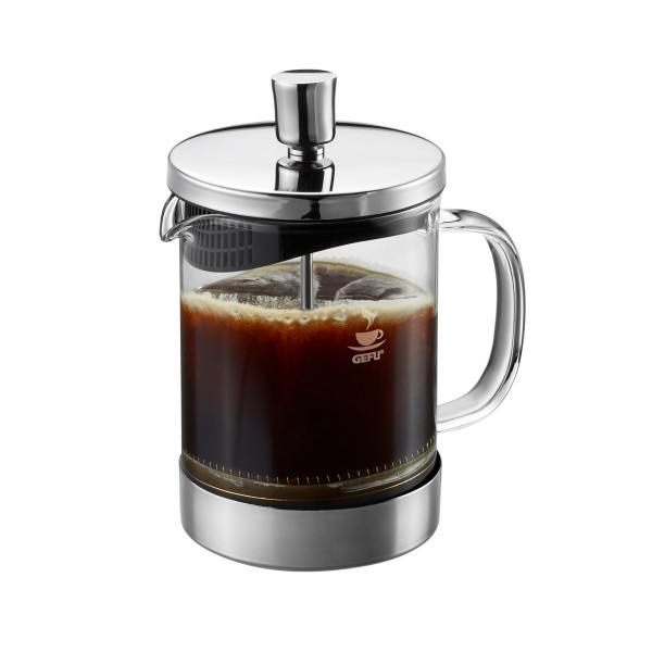 Kaffeebereiter DIEGO - French Press System - 600ml - Glas/Edelstahl