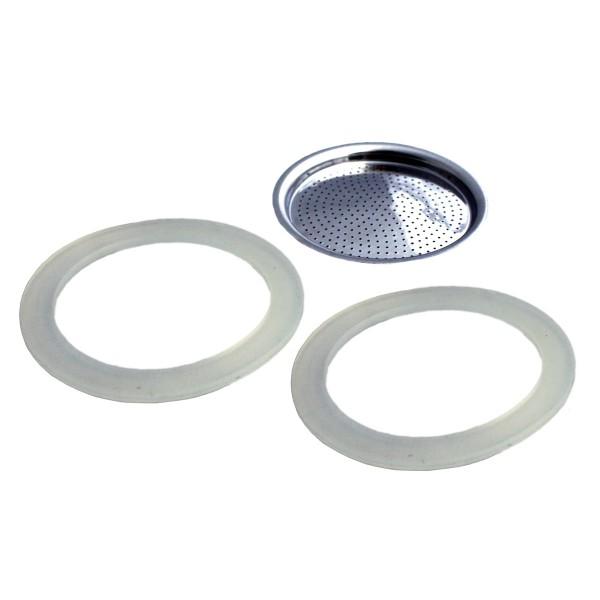 2 Dichtungsringe/ 1 Filter für GEFU EMILIO Espressobereiter 6 Tassen (16160)