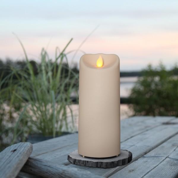 "LED Stumpenkerze ""M-Twinkle"" - mechanisch bewegte Flamme - H: 17,5cm - Batteriebetrieb - Timer"