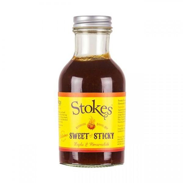 STOKES BBQ Sauce Sweet & Sticky 250ml leichte Süße mit kräftigem Raucharoma