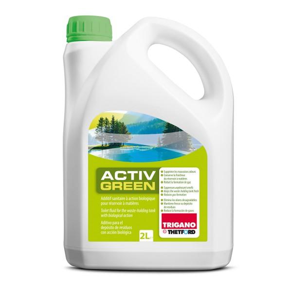 TRIGANO by THETFORD ACTIVE GREEN Sanitärzusatz für Fäkalientank - 2000ml - gegen Geruch