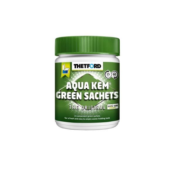 THETFORD Aqua Kem Green Sachets - 15 Beutel - unweltschonend - Reduziert Gasentwicklung