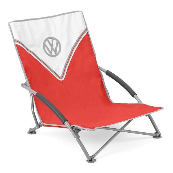 VW Collection - VW T1 Bus Strandstuhl rot - faltbarer Stahlrahmen - max 120kg