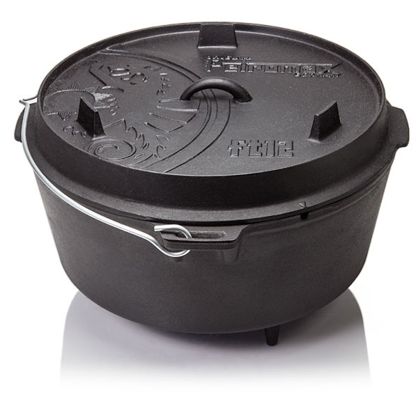 Petromax Feuertopf Dutch Oven ft12 mit Füßen - 10,8L - 14-20 Personen