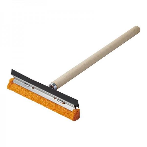 Scheibenwascher 20cm mit Holzgriff 40cm - Abzieher und Schwamm