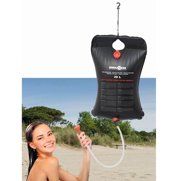 Solardusche 20 Liter - einfach aufhängen - schwarzes PVC