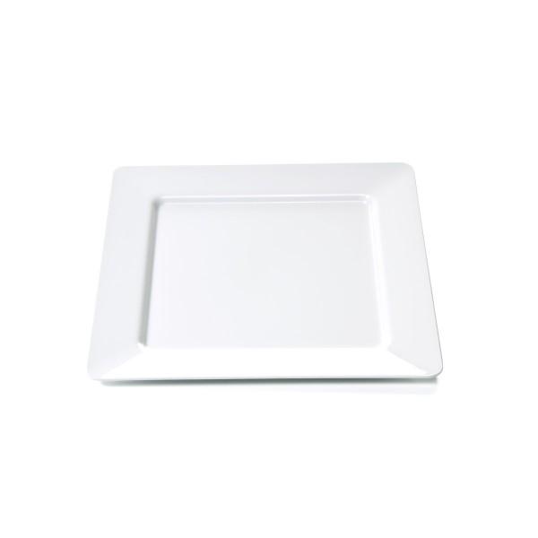 Campingteller SUMMER - Melamin - quadratisch 18,5 x 18,5cm-  flach - weiß