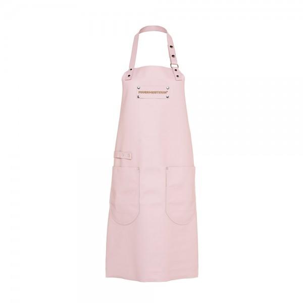 Feuermeisterin Premium Leder Back- und Kochschürze Rosa mit 2 Taschen