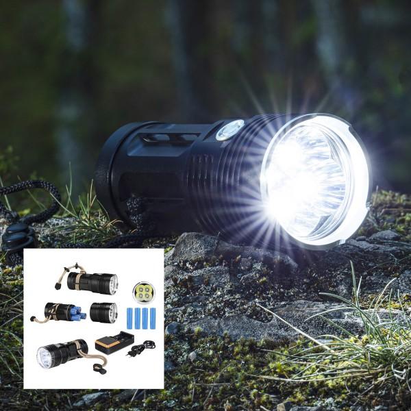 LED Handlampe - kaltweiße LED - 1000lm - 13,5 x 5,9 x 5,1cm