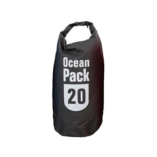 OCEAN PACK 20 Liter schwarz - wasserfester Beutel