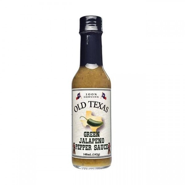 Old Texas Green Jalapeno Pepper Sauce 148ml eine fruchtige, scharfe Sauce