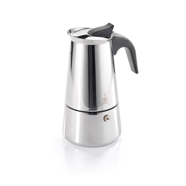 Espressokocher EMILIO - 6 Tassen - Edelstahl - für alle Herdarten
