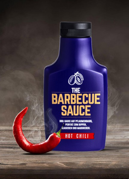 THE BARBECUE SAUCE - Hot Chili - auf Pflaumenbasis - 390g Flasche