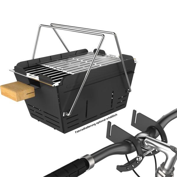 KNISTER Grill Fahrradhalterung für Holzkohlegrill - Montage am Fahrradlenker