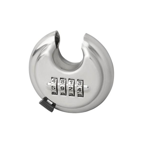 Rundbügelschloss mit 4 stelligem Zahlencode - gehärteter Stahl - 70mm