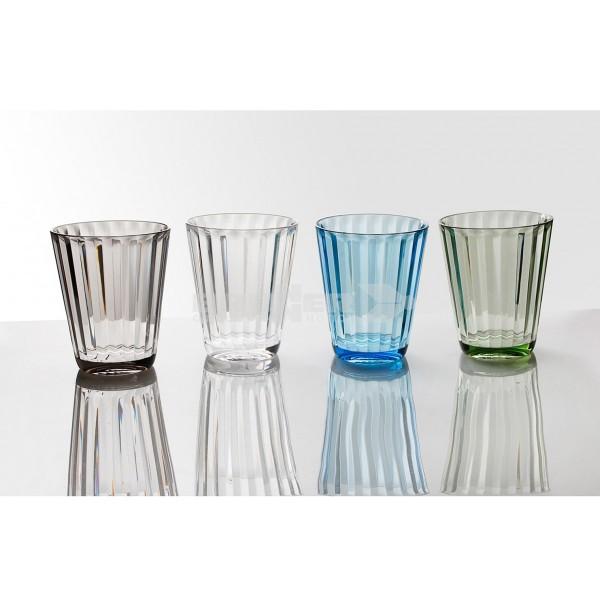 Trinkgläser JAZZ - 4er Set - 4 Farben - bruchfester Kunststoff - 300ml