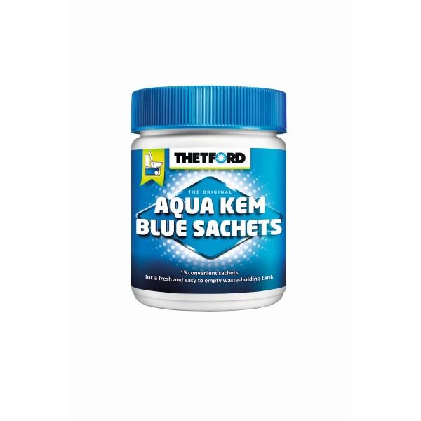 THETFORD Aqua Kem Blue Sachets - 15 Beutel hochkonzentriert - Reduziert Gasentwicklung