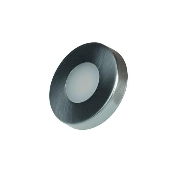 LED Aufbauspot COB 3000 - 12V - 3000K - 150lm - 1,8W - 4cm x 0,75cm - Edelstahl