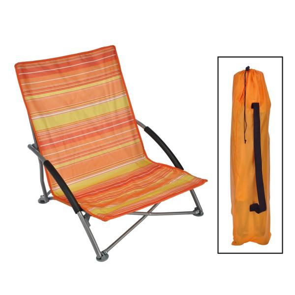 Strandstuhl - 65 x 55 x 25 / 65cm - Klappbar - Orange